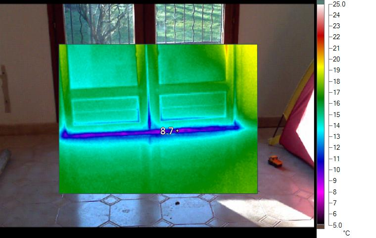 Porte d entree maison passive thermographie